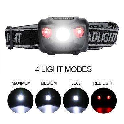 Led Headband Lights (Bright White LED Headlamp Red Light Adjustable Headband 4 Modes Camping)
