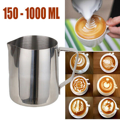 Stainless Steel Milk Cup Frothing Pitcher Steam Espresso Coffee Latte Art Cup