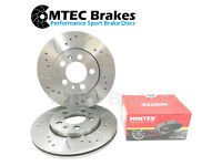 Front Brake Discs Drilled Grooved Gold Edition Astra Twin Top 1.9 CDTi 05//06