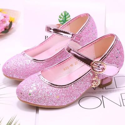 Glitter Girls Sandals Heel Sandals Shoes For Party Wedding Dress Infant - Girls Dress Shoes For Wedding