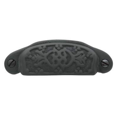 Baldwin Rounded Ornamental Cup Pull OIL RUBBED BRONZE 4467.102-BIN QTY 13 Baldwin Brass Round Pull