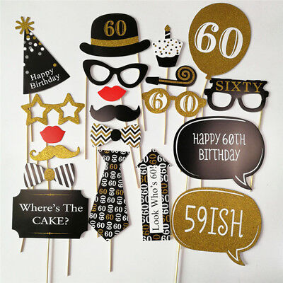 30th 40th 50th Happy Birthday Party Decorations Photo Booth Props  30 40 50 Year - 40th Birthday Party Decorations