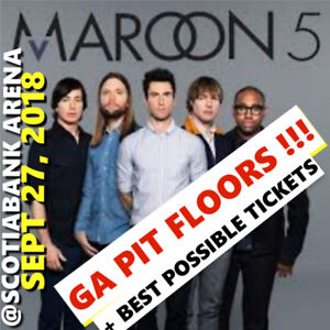 MAROON 5 @ACC - BEST POSSIBLE TICKETS! AMAZING GA PIT FLOORS