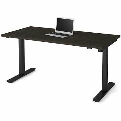 Bestar Electric Adjustable Height Standing Desk In Deep Gray