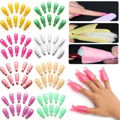 10PCS Plastic Nail Soak Off UV Gel Art Polish Remover Wrap G