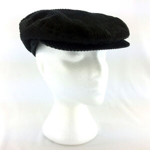 Gymboree Boys Flat Cabbie Hat Newsboy Black Corduroy Gymsport XL