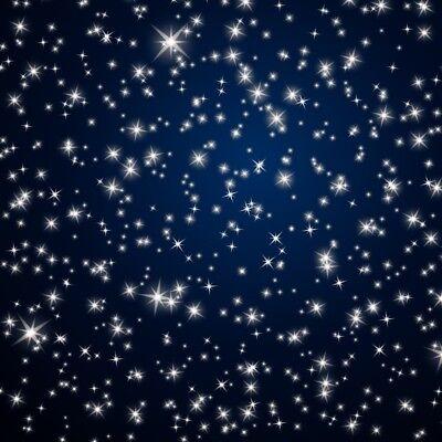 Blue Prop Starry Night Backdrop Decoration 6x6ft Glitter Background Photography