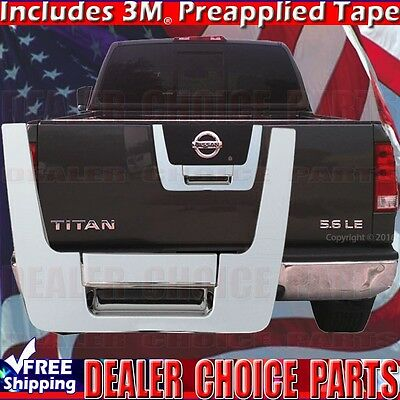 For 2004-2012 Nissan Titan Triple Chrome Tailgate Handle COVER Overlay -