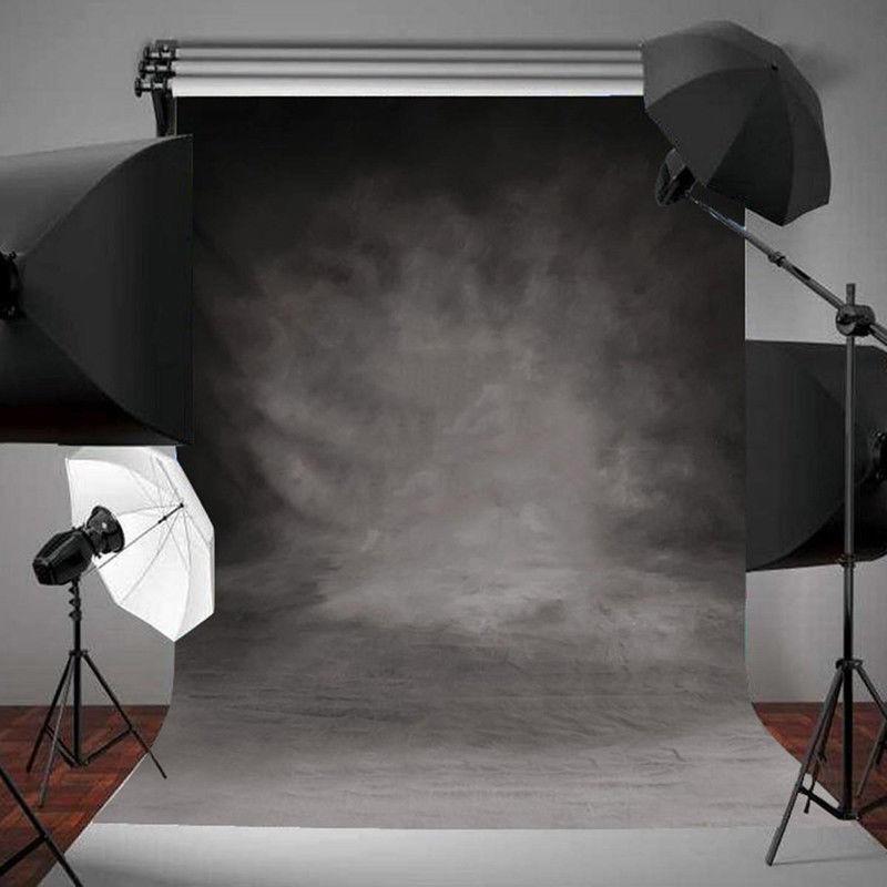 Vinyl Retro Grey Cloth Backdrops Photography Studio Props Photo Background 3X5FT