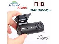 Brand NEW Mini 0902 T1 Ambarella A7 Super HD 1296P WiFi GPS Car Dash Camcorder DVR Gsensor