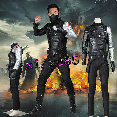 Captain America2 Winter Soldier Bucky Barnes Cosplay Costume High Quality Outfit
