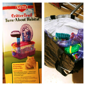 Critter cage with extra extension kit- hamster mouse