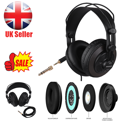 SAMSON SR850 Professional DJ Studio Reference Headphones Game Music Headset UK