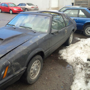 1982 mustang t top rolling shell
