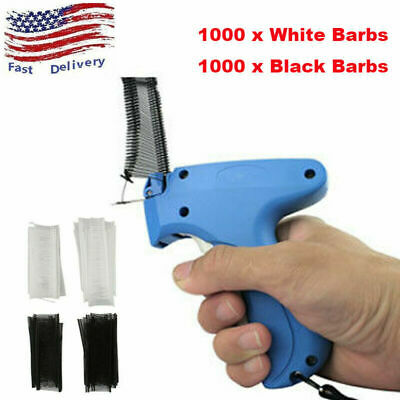Clothing Garment Price Tag Gun 2000 Barbs Label  1 Needle Machine Tool Set