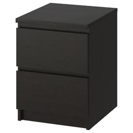 Malm bedside drawers