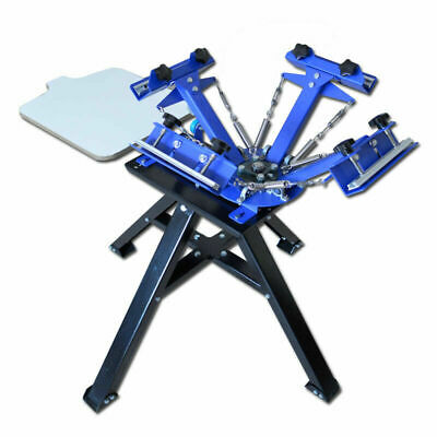4 Color 1 Station Screen Printing Press Machine With Stand Printer For Shirt