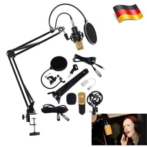 BM800 Professionell Kondensator Mikrofon Kit Komplett Set für Studio Aufnahme