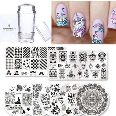 Born Pretty Nail Art Stamping Plate Image Print Design Template Diy Manicure Set