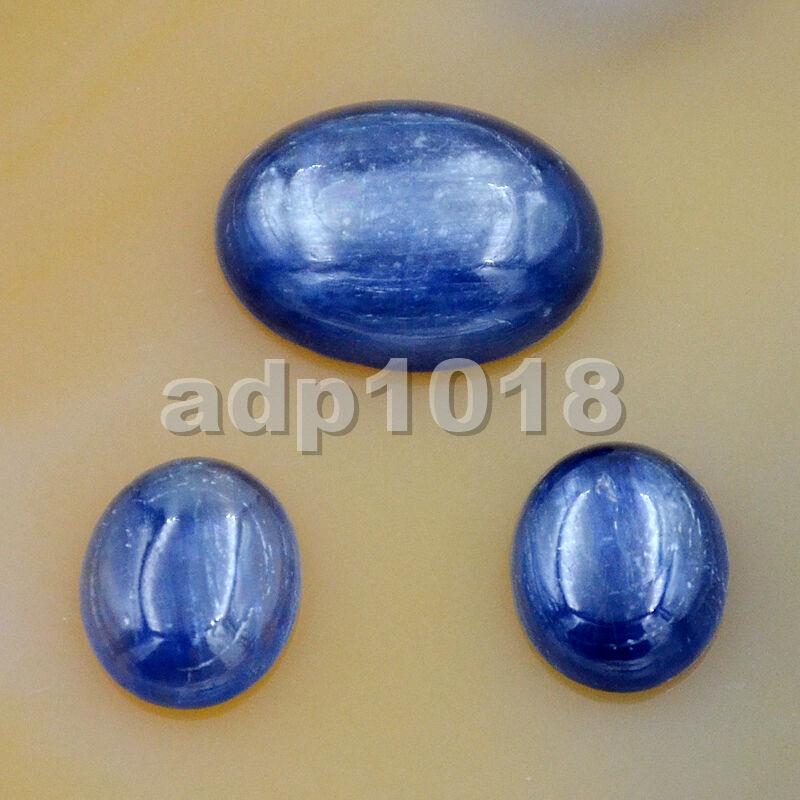 Natural Kyanite flatback oval cab cabochon