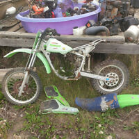 Kawasaki dirt bike for parts