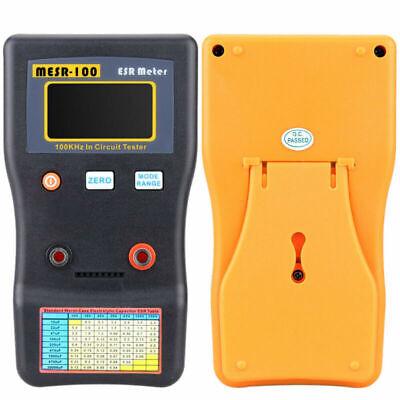 Mesr-100 V2 Esr Capacitance Ohm Meter Test Capacitor Meter With Smd Clip Probe