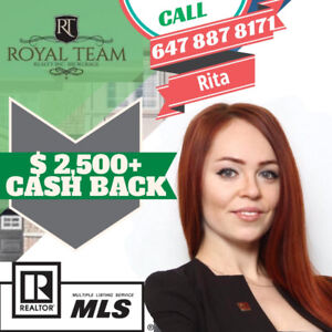 SELL BUY RENT cashback 1% commission real estate agent Toronto