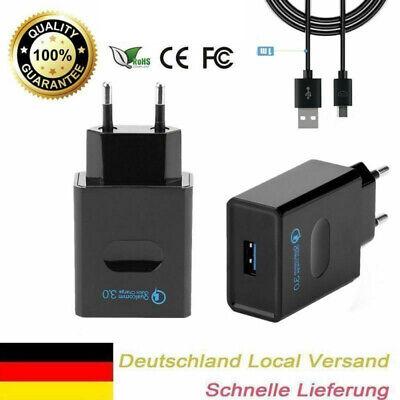 Quick Charge 3.0 USB Schnellladegerät+Datenkabel Qualcomm Charger für Android