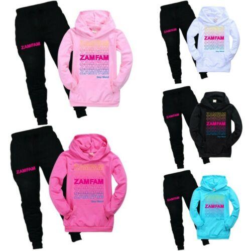 ZAMFAM  Rebecca Zamolo Boys Girls T Shirt Pants Trousers Tracksuit 2PCS Set UK
