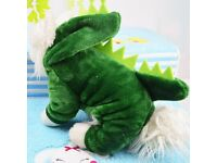 Green Dinosaur Halloween Dog Pet Costume Size XS