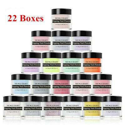 22 Boxes NICOLE DIARY Glitter Dipping Powder Nail Art Dip System Pro Starter Kit