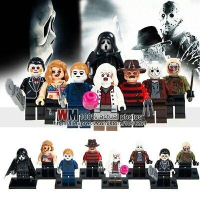 8Pcs Horror Theme Jason Scream Killer Freddy krueger lego halloween (Fast~Shipp) - Halloween Jason Theme