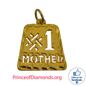#1 Mother Mom Purse Shape Trophy charm 24K Yellow Gold Plated