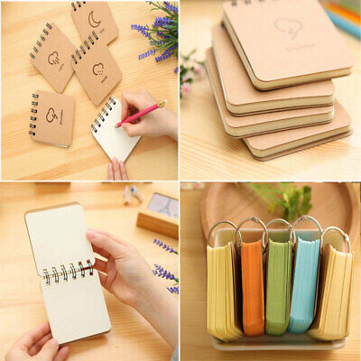 Portable Small Coil Notepad Pocket Memo Notebook Message Note Pad Stationery New