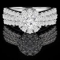 Unbeatable Diamond Wedding Ring 1.85CTW Bague de Marriage 14k Or