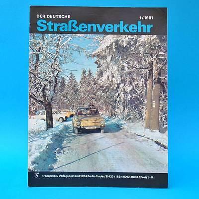 Der Deutsche Straßenverkehr 1/1981 Skoda 120 Wernigerode Buran Zastava Indien G