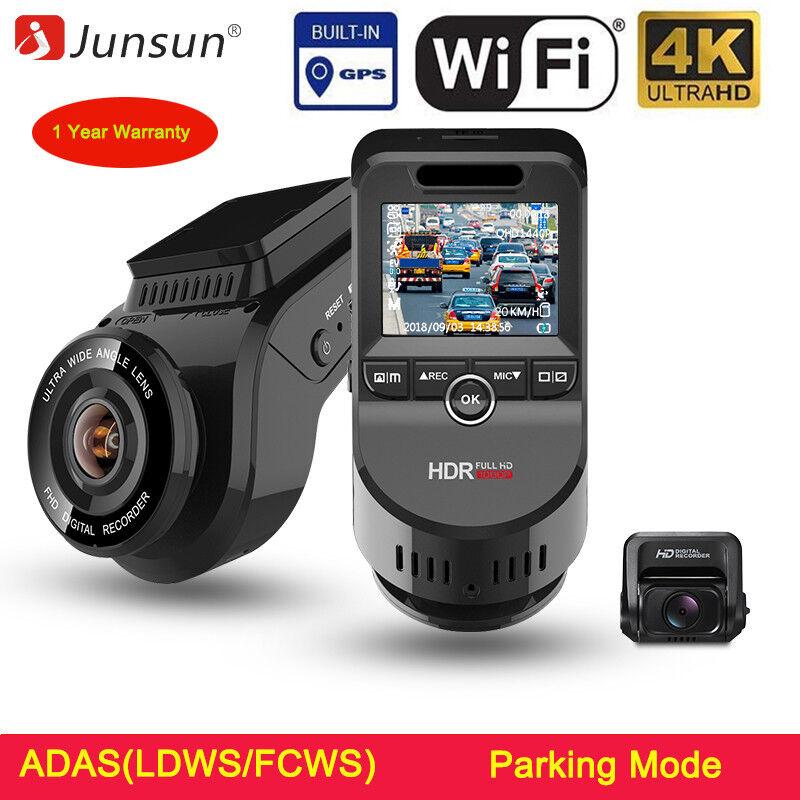 Junsun 4K Car Dash Cam DVR 4K Ultra HD 2160P Built-In WiFi &