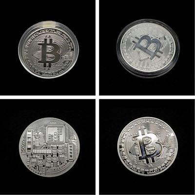 Silver Rare Collectible In Stock New Golden Iron Bitcoin Commemorative Coin Gift