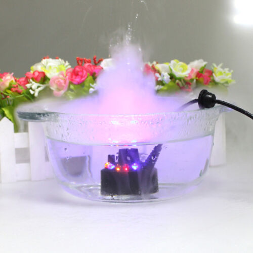 12 LED Mist Maker Fogger Water Fountain Pond Fog Machine Ato