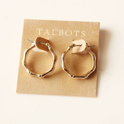 New Talbots Bamboo Hoop Earrings Best Gift Fashion Women Party Holiday