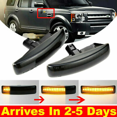 2XDynamic LED Side Indicator Repeater Light For Range Rover Discovery Freeland