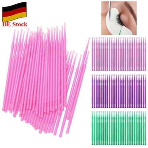 100x Wimpernverlängerung Microbürstchen Microbrush Reinigungsstäbchen Bürstchen