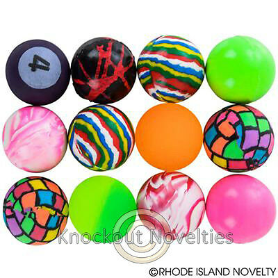Dozen 32 MM Bouncy Ball Assortments Bulk Toy Play Vending Carnival Prize Game - Bouncy Balls Bulk