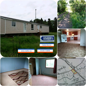 Home or camp 7.7 acres bordering on TransCanada Trail