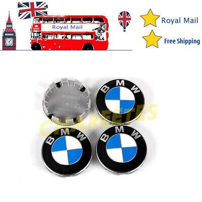 4x Alloy Wheel Centre Caps Blue 68mm Fits For BMW E90 E46 E34 Z4 1 3 5 7 Series