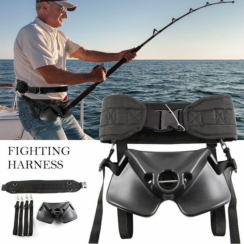 Boat Fishing Rod Holder Fighting Belt Shoulder & Back Harness Complete Package