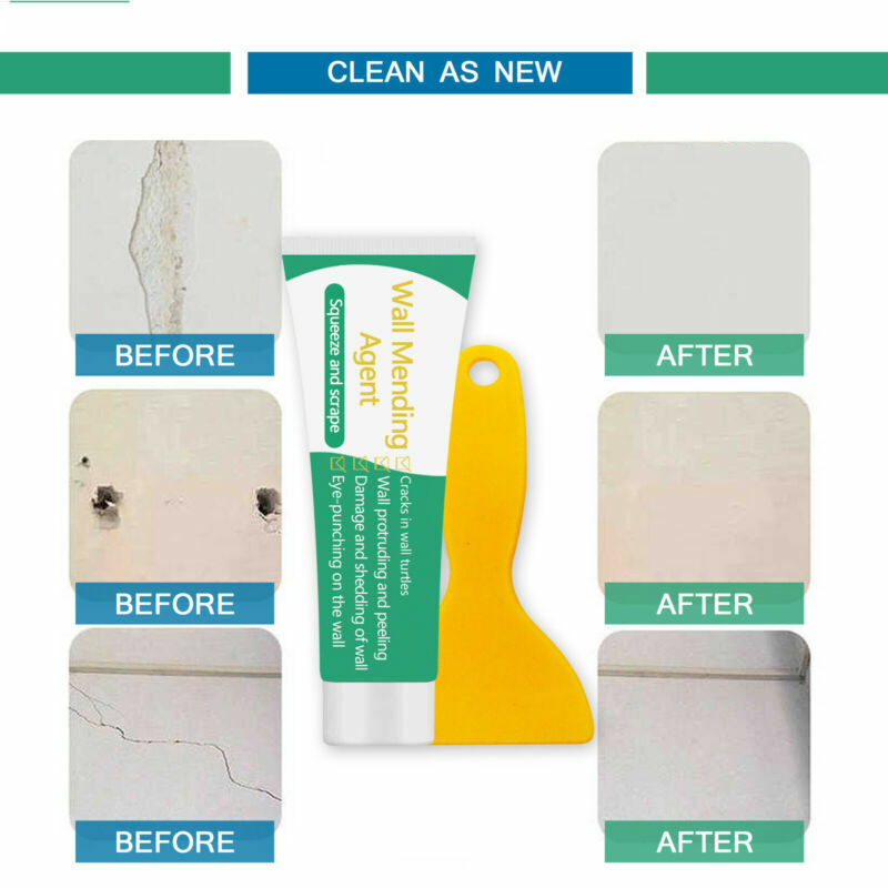 Wall Crack & Hole Repair Mending SafeMend Safe Mend Peeling Paint Fix Agent NEW