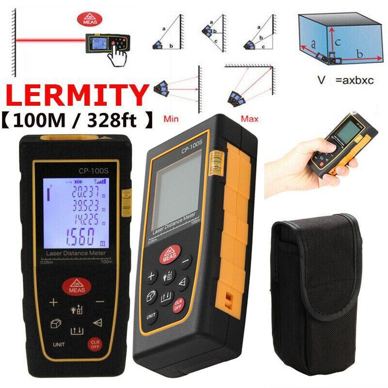 100M / 328ft High accuracy Digital LCD Laser Distance Meter Range Finder Measure