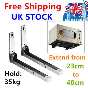 2pcs Stainless Steel Microwave Bracket Kitchen Oven Shelf Holder Angle Frame
