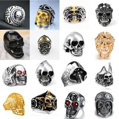 New Cool Boys (Fashion Cool Men's ALLOY Gothic Punk Skull Head Boy Biker Finger Ring)